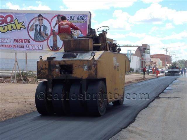 pavimentação avenida são joao/Foto: Ascom PMJ/divulgação