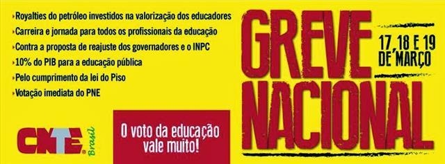 1111 Lagoa Grande: Município apoia greve dos profissionais da educação do Estado