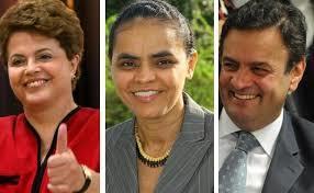 dilma marina e aécio Datafolha: Dilma oscila de 36% para 37%; Marina tem 30% e Aécio 17%