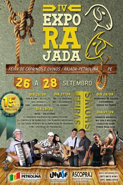 CARTAZ EXPORAJADA REDUZIDO Rajada prepara se para 4ª edição da Exposição de Caprinos e Ovinos