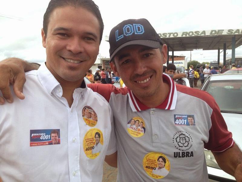 dhoni e cícero da perua Lagoa Grande: Rompido com o irmão vereador, líder comunitário segue candidatos do prefeito