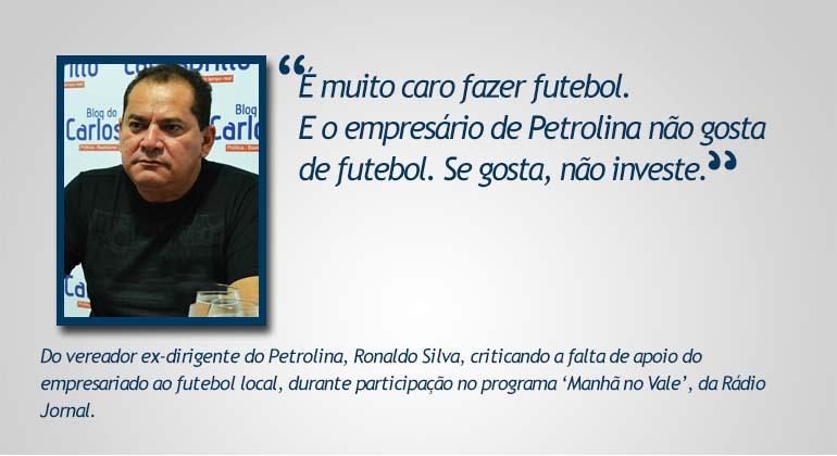 O que eles disseram Ronaldo
