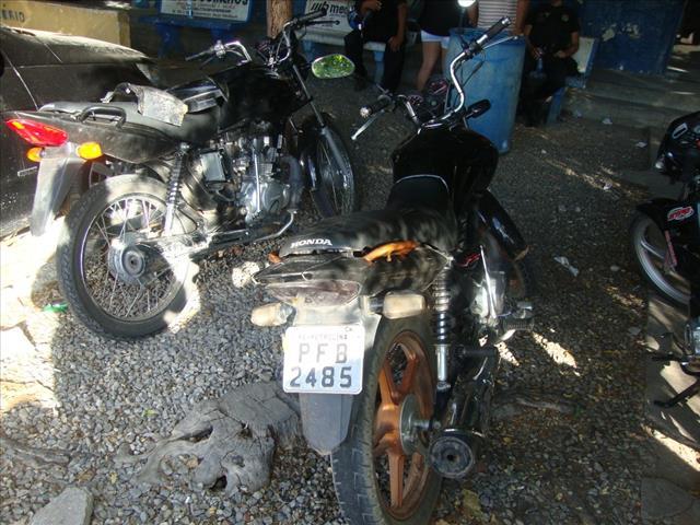 motos roubadas/Foto 5º BPM/divulgação