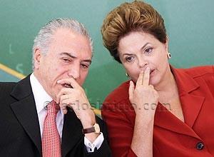 Dilma e temer/Foto: Folha SP