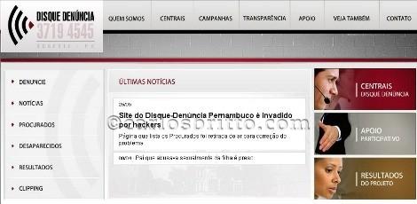 Disque Denúncia site