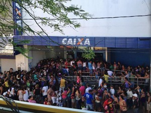 confusao-caixa/Foto: Wanessa Andrade/TV Globo