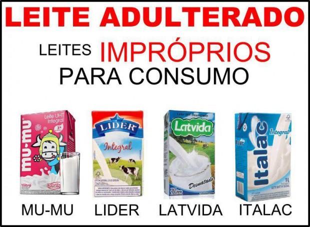 leite adulterado