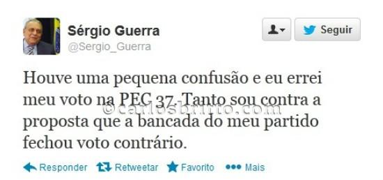 Twitter Sérgio Guerra