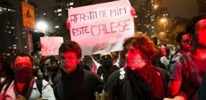 Manifestantes em SP/UOL