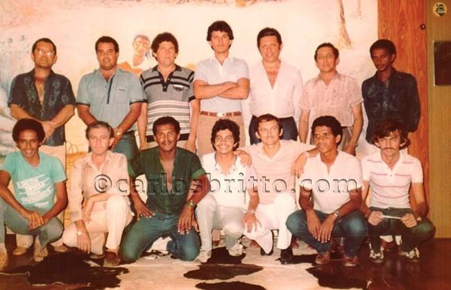 Equipe Emissora Rural anos 80