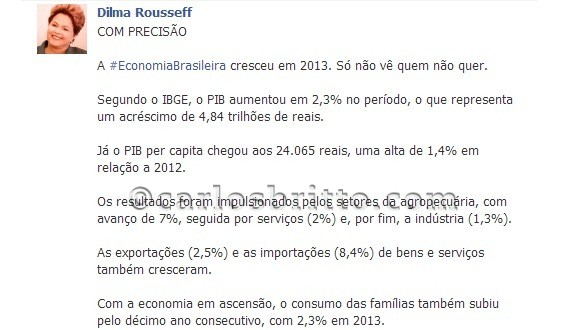 Dilma no face