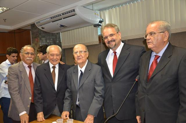 Deputado Marcelino Galo, Inácio Gomes, Waldir Pires e Joviniano Neto na oitiva de Luiz Leal. Foto Fernanda Matos