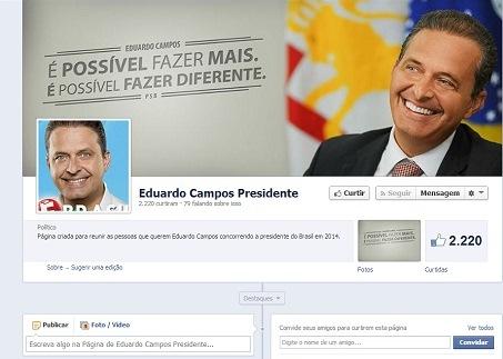 Página Face Eduardo Campos
