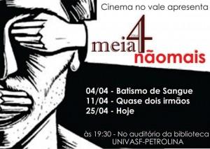 Cinema no vale cartaz abril 2014