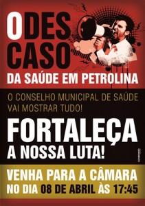 Conselho Municipal de Saúde - Descaso Em Petrolina - Cartaz A3 IMPRESSÃO