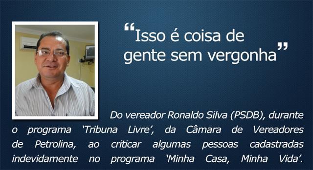 O que eles disseram - Ronaldo Silva