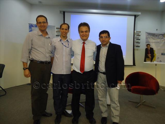 0Glauber Araújo, Gerente Regional Fiepe URSF; Roberto Shinyashiki e Albânio Nascimento, Diretor Regional FIEPE URSF