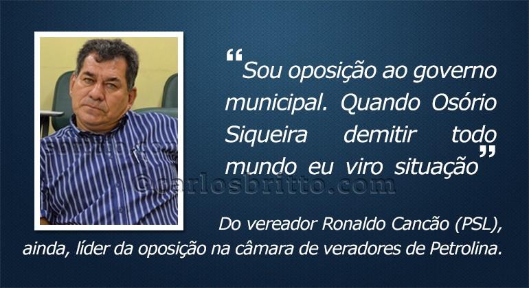 O que eles disseram - Ronaldo Cancão