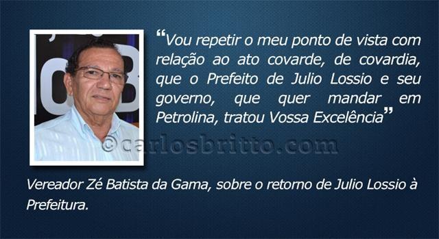 O que eles disseram - Zé Batista