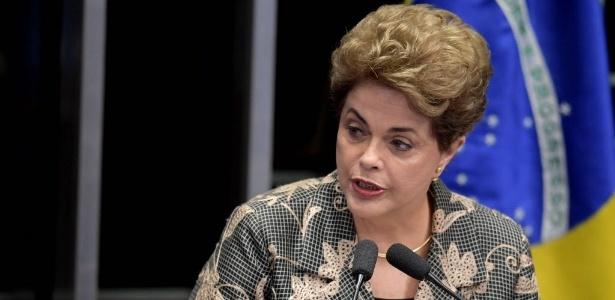 Dilma discursa no senado