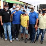 Coronel Anselmo Bispo faz visita a comerciantes do Mercado do Produtor em Juazeiro