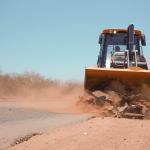 Obras de recuperação da Estrada do Burrinho